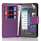 32nd Book wallet PU leather case cover for Blackberry Z10 - Purple