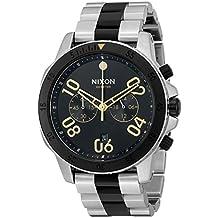 Nixon Men's 'Ranger Chrono Silver Black Gold' Quartz Stainless Steel Casual Watch (Model: A5492194)