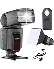 Neewer TT560 Flash Speedlite Kit for Canon Nikon Sony Pentax DSLR Cameras with Standard Hot Shoe,Includes:(1) TT560 Flash+(1) Remote Control+(1) Universal Folable Flash Diffuser+(1) Lens Cap Holder