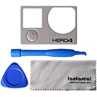 Fantaseal 4-in-1 Repair Kit For GoPro Cover GoPro Replacement Part GoPro Front Panel W/ GoPro Disassembly Tool + GoPro Replacement Accessories + Pry +GoPro Lens Cloth For GoPro Hero 4 Black / Silver