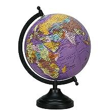 Décorative Desktop Rotating Globe Black Ocean World Earth Office Table Décor