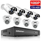 【2019 New】 HD Security Camera System Outdoor,SMONET 8-Channel