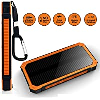 Solar Charger Sankin 20000mAh Portable Power Bank with Dual USB Ports Solar Phone Charger for iPhone iPad Cell Phones Tablets,Emergency Backup Battery with Flashlight
