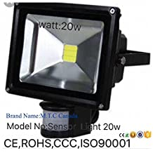 LED MOTION SENSOR Flood Light 20W=200W 6000K 1800lm IP65 Outdoor For Sale Canadian Company Canadian Stock