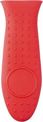 AmazonBasics Silicone Hot Skillet Handle Cover Holder, Red