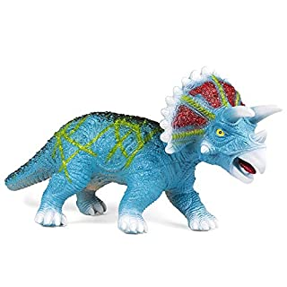 Best Choice Products 30in Realistic Giant Roaring Jurassic Triceratops Dinosaur Figurine Toy for Kids