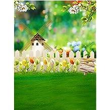 Generic Easter Egg White Fence Backdrop Custom Photography Backdrop for Photo Studio Wedding Children Baby Photography Background