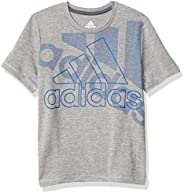 Adidas Boys Statement Bos Poly Melange Tee T-Shirt