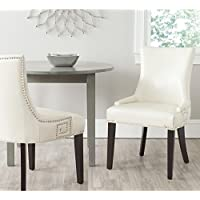 Safavieh Mercer Collection Gretchen Side Chair, Flat Cream, Set of 2