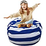 "Stuffed Animal Bean Bag | Stuffed Animal Storage or Sack | Bean Bag Stuffed Animal Storage | Organization Stuffed Animal Premium Cotton Canvas Organizer Box for Kids Toys Household Supplies 38"""