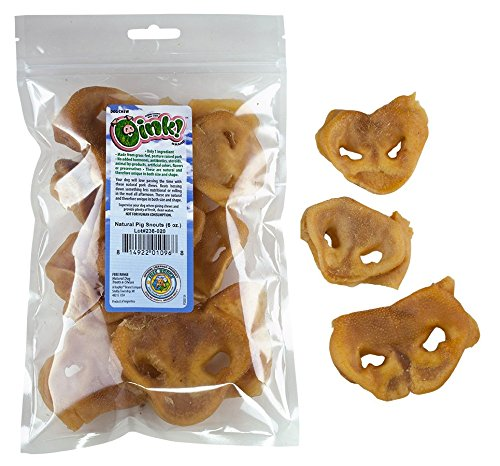 (10) 6 oz. Bags of Natural Pig Snouts Free Range Oink  Brand