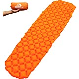 Outdoorsman Lab Ultralight Sleeping Pad - Ultra-Compact for Backpacking, Camping, Travel w Air-Support Cells Design…