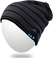 Bluetooth Beanie,Qshell Washable Winter Men Women Hat Running Cap with Bluetooth Stereo Headphones Mic Hands Free Rechargeable Battery for Outdoor Sports Running Skiing Skating Hiking,Christmas Gifts