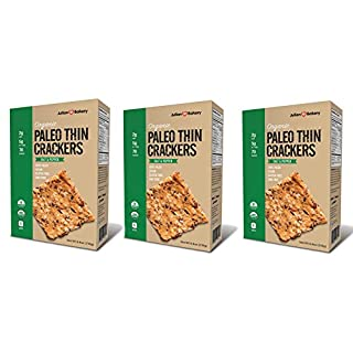 Julian Bakery Paleo Thin Crackers | Salt & Pepper | USDA Organic | Gluten-Free | Grain-Free | GMO Free | Low Carb | 3 Pack