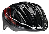 USA Helmet V-14 Adult Bicycle Helmet, Black with Red Swirl