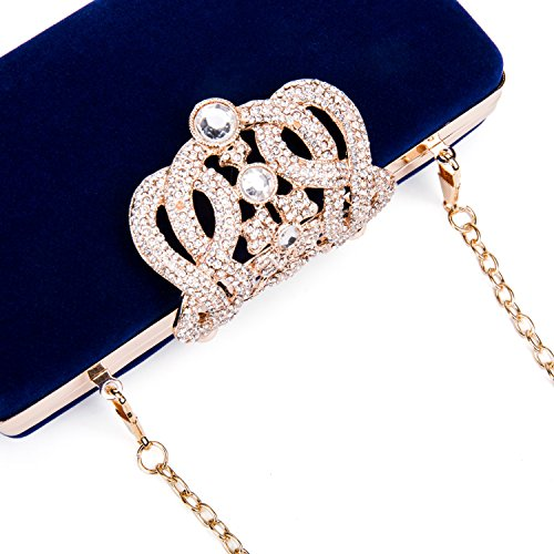 Royal Clubs Bag Clutch Party Nightclub Evening Pearls shaped Handbag Wedding Diamonds Blue Purple Hard Women For Shell Pillow Glitter 0RxvqST