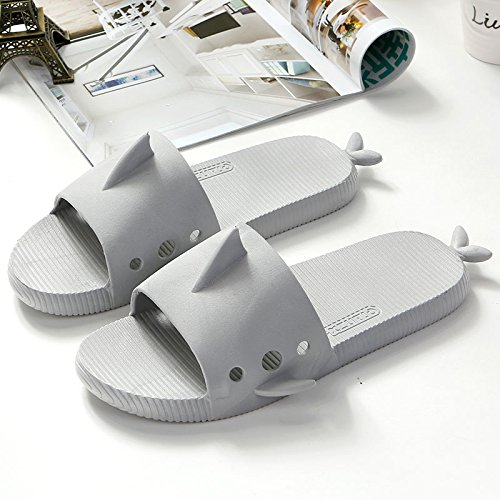 female three home slip children cute family interior fankou Gray cool bath Fish anti a male summer 42 43 Light students of floor men bathroom and slippers soft pvpIzWT