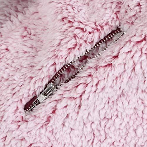 Casuales Prendas Exteriores Casual Especial Cómodo Chaleco Cazadoras Chaqueta Mujer Rosa Primavera Estilo Sintética Cremallera Sólido Color Piel Outwear con Elegantes Otoño w7fvPqwHU