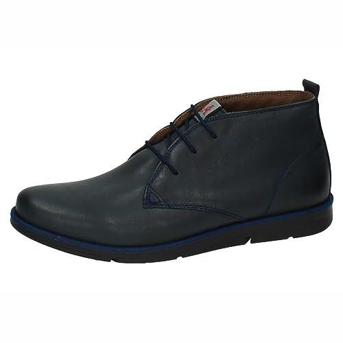 MADE IN SPAIN 822 BOTÍN Piel Caballero Hombre Botas-Botines Marino 43: Amazon.es: Zapatos y complementos