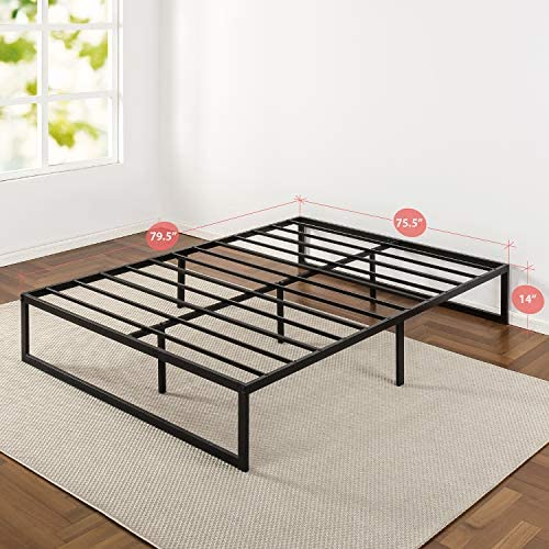 Zinus Abel 14 Inch Metal Platform Bed Frame / Mattress Foundation / No Box Spring Needed / Steel Slat Support / Easy Quick Lock Assembly, King