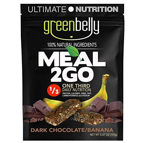 Greenbelly Backpacking Meals – Backpacking Food, Appalachian Trail Food Bars, Ultralight, Non-Cook, High-Calorie, Gluten-Free, Ready-to-Eat, All Natural Meal Bars (Dark Chocolate, 12 Meals)