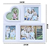 Kurtzy Table Mount Collage Photo Frame Home Decor for Friends Family 4 pictures LXH27,24X27 CM White