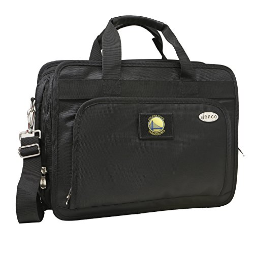 NBA Golden State Warriors Expandable Laptop Briefcase, 13-Inch, Black by Denco