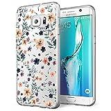 Alsoar Funda Samsung Galaxy S7 Edge Case Ultrafino diseño de Dibujos Lindo TPU Parachoques Anti-Arañazos Anti-Huella Dactilar a Prueba de Choque Case Protectora para Jugando al fútbol Perro (Pétalo)