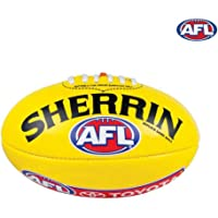Sherrin Leather AFL Replica Training Football Yellow