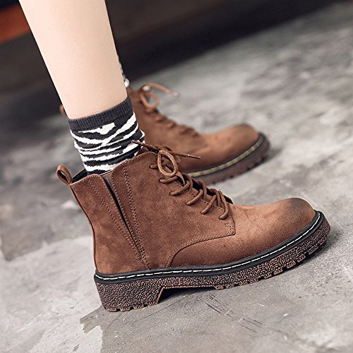 sexy Women's Boots Thickening British Style Winter Black Brown Martin Boots 18~40 Years Old (Color : C, Size : EU36/UK3.5/CN35) C