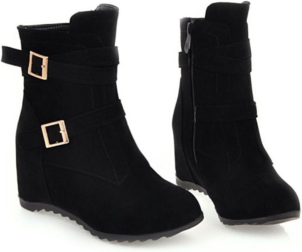 AicciAizzi Women Fashion Wedge Heel Boots
