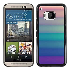 Planetar® ( Pastel Lines Green Purple Orange Clean ) HTC One M9 Fundas Cover Cubre Hard Case Cover