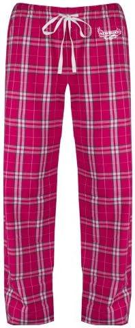 CollegeFanGear Newbury Ladies Dark Fuchsia//White Flannel Pajama Pant Primary Mark