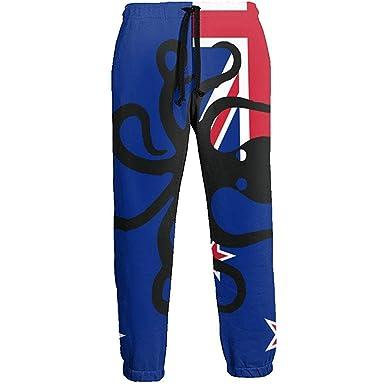 Emild Pulpo Nueva Zelanda Bandera Pantalones de chándal Largos ...