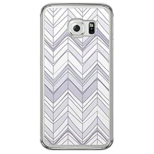Loud Universe Samsung Galaxy S6 Edge Chevron 5 Zig Zag Transparent Edge Case - Multi Color