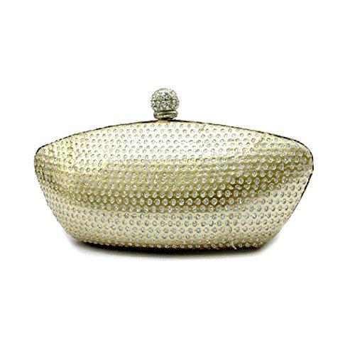 VENI MASEE - Bolso de mano, de moda, de mujer, para fiesta, ideal para regalo Gold37
