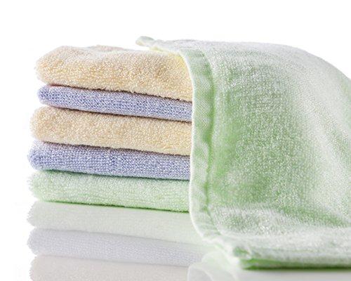 Bamboo débarbouillettes - Chiffons mous du visage - 6 pack Mini serviettes / Lingettes pour bébés en tissu