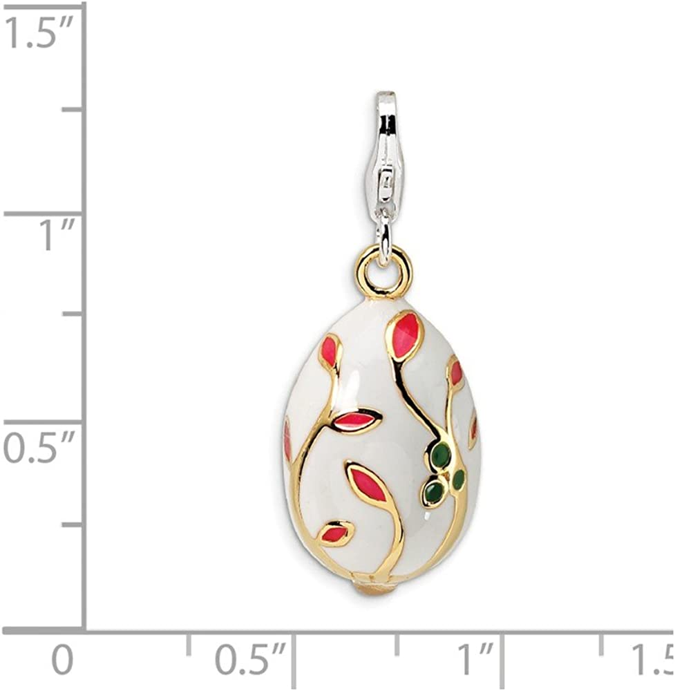 Amore La Vita Sterling Silver Moveable Carousel Click-On Lobster Clasp Charm Pendant