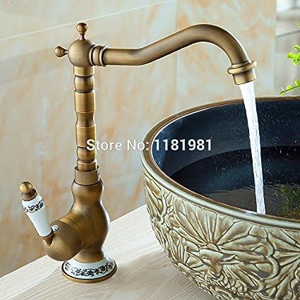 Tougmoo design lavello da cucina girevole in ottone antico ...