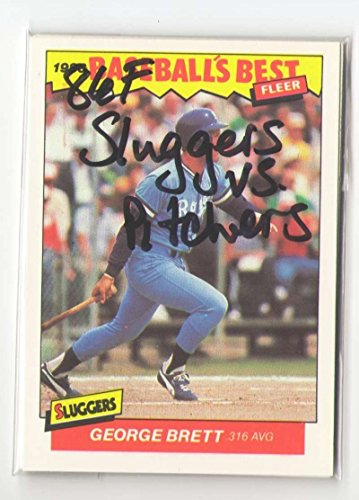 1986 Fleer Sluggers vs Pitchers KANSAS CITY ROYALS Team Set