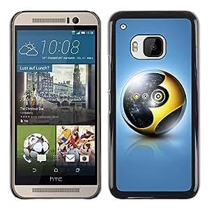 Be Good Phone Accessory // Dura Cáscara cubierta Protectora Caso Carcasa Funda de Protección para HTC One M9 // Gold Sphere
