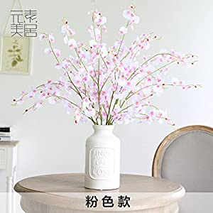 FYYDNZA High End Feel Emulation Flower Super Beauty Dancing Orchid Living Room Tv Cabinet Decorative Artificial Flowers Indoor Table Artificial Flowers 6