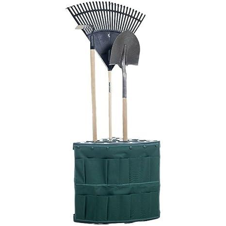 Garden Tool Organizer Rack Corner Storage Floor Tools Holder With Storage  Bag 19 Handle Stand