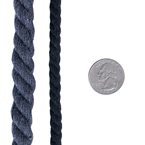 West Coast Paracord Super Soft Triple-Strand 1/4 Inch Twisted Cotton Rope by the foot in 10 Ft, 25 Ft, 50 Ft, 100 Ft Options - 100% Cotton Rope by West Coast Paracord (Image #5)