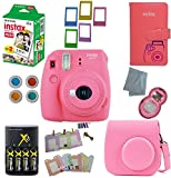 Fujifilm Instax Mini 9 Instant Camera – 10 Pack Camera Bundle Pink (Small Image)