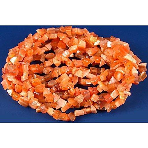 Orange Fiber Optic Chip Beads Jewelry Beading 34