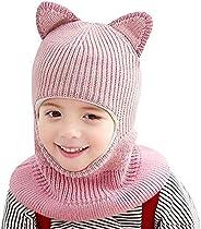 Rgslon Baby Girl's Warm Hat Scarf Kid Fleece Lined Earflap Caps Windproof Balac