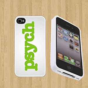 psych Custom Case/Cover FOR Apple iPhone 4 / 4s** WHITE** Rubber Case ( Ship From CA )
