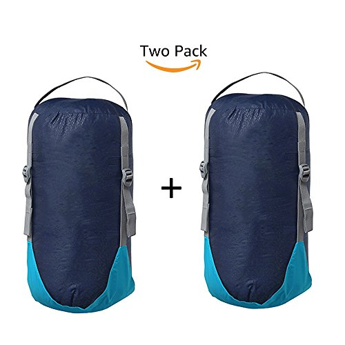 WINNER OUTFITTERS Sleeping Bag Compression stuff Sacks (blue, 2 pack) Compression Sleeping Bag Stuff Sacks