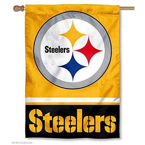 Wincraft Pittsburgh Steelers Gold Two Sided House Flag
